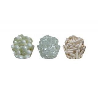 Sucre et perles à parsemer - Assortiment Blanc