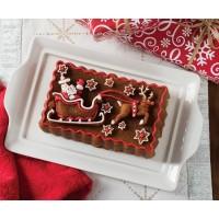 Moule à gâteau Père Noël en traineau