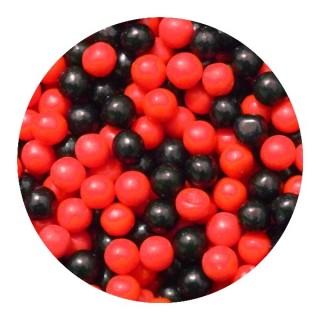 Perle 7mm - Rouge et Noire