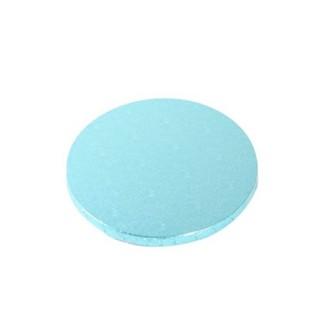 "Carton plateau rond turquoise 10"" x 0.5"""