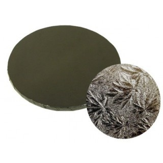 """Carton plateau rond noir 14 x 0.5"""""""