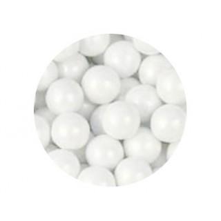 Perle chocolatée 10 mm - Blanc