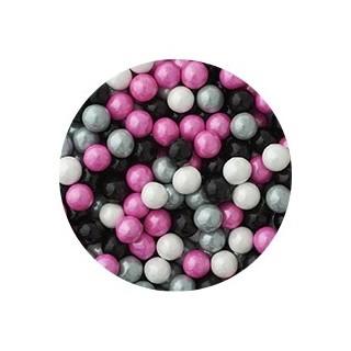 Perle chocolatée 10 mm - Camouflage féminin