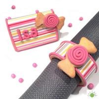 Ensemble pour biscuit - Anneaux à serviettes de table en tissus