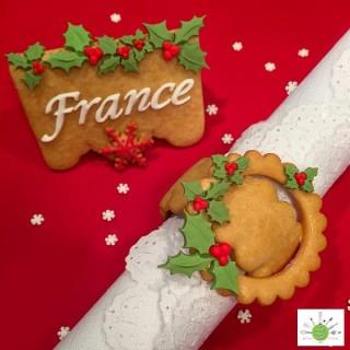 Ensemble pour biscuit - Anneaux à serviettes de table en papier