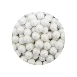 Perle chocolatée 10 mm - Blanc perlé