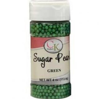 Perle verte en sucre 3-4 mm