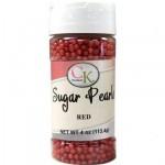 Perle rouge en sucre 3-4 mm