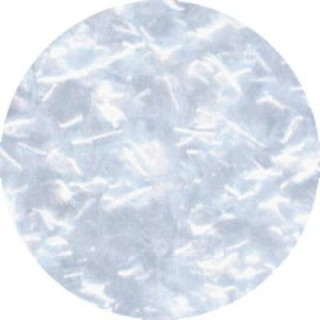 Paillette brillante blanche en flocon