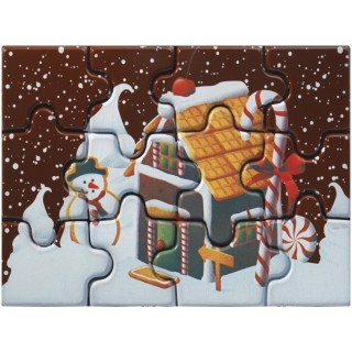Moule imprimé Puzzle La maison de bonbons