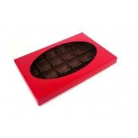 Boite pour chocolat Rouge 24 morceaux