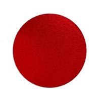 """Carton plateau rond rouge 14 x 0.5"""""""
