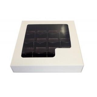 Boite pour chocolat blanche fenêtre carrée