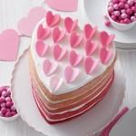 Ensemble 5 moules à gâteau Coeur 6''