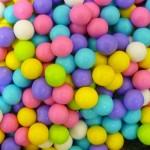 Perle chocolatée 10 mm - Couleurs pastels