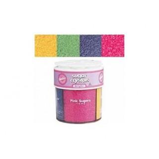 Sucre 4 couleurs pastels
