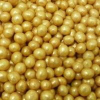 Perle chocolatée croustillante - Or