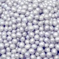 Perle chocolatée croustillante - Argent nacré