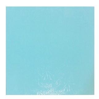 """Carton plateau carré turquoise 10"""" x 0.5"""""""