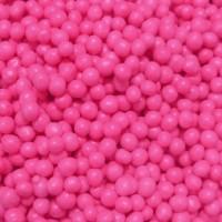 Perle chocolatée croustillante - Rose foncé lustré