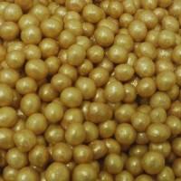 Perle chocolatée croustillante - Or pépite lustré