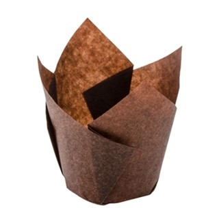 Moule en papier Tulipe Chocolat ( brune )