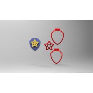 Découpoirs Badge Chase multi-pièces 3''