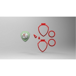 Découpoirs Badge Tracker multi-pièces 3''