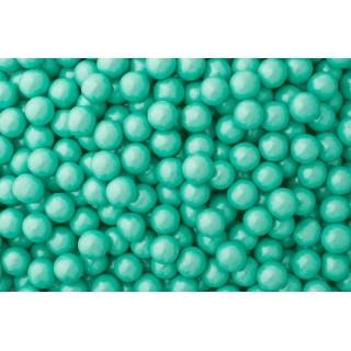 Perle chocolatée 10 mm - Turquoise perlé