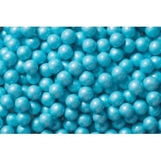 Perle chocolatée 10 mm - Bleu pâle perlé