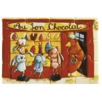Moule imprimé puzzle Au bon chocolat