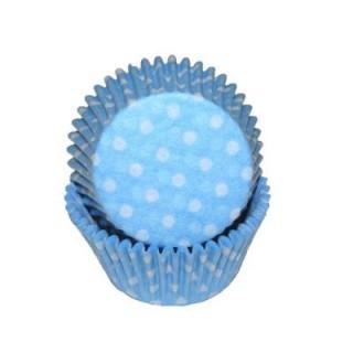 Mini moule en papier Bleu pâle à pois
