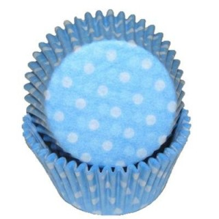 Moule en papier Bleu pâle à pois