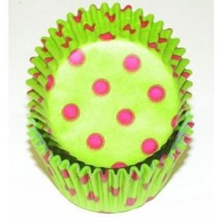 Moule en papier Lime à pois rose