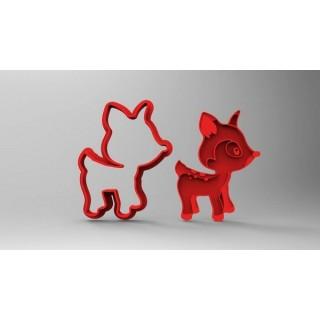 Découpoir et embosseur Faon ( Bambi ) 3''