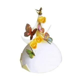 Papillons comestibles en papier de riz