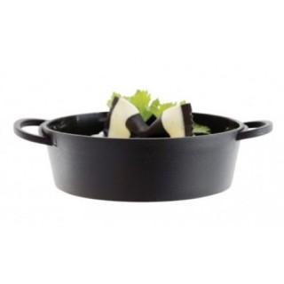 Verrine Mini plat rond noir 130 ml