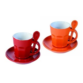 Tasses à expresso Intermezzo - Rouge et orange