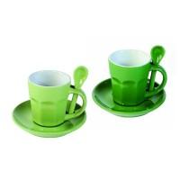 Tasses à expresso Intermezzo - Verte et verte pâle