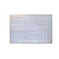 Carton plateau rectangulaire argenté 18 x 26 x 0.5