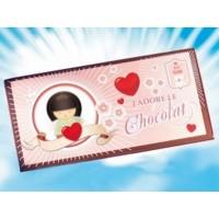 Carte de voeux J'adore le chocolat