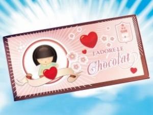 impression carte de voeux j 39 adore le chocolat. Black Bedroom Furniture Sets. Home Design Ideas