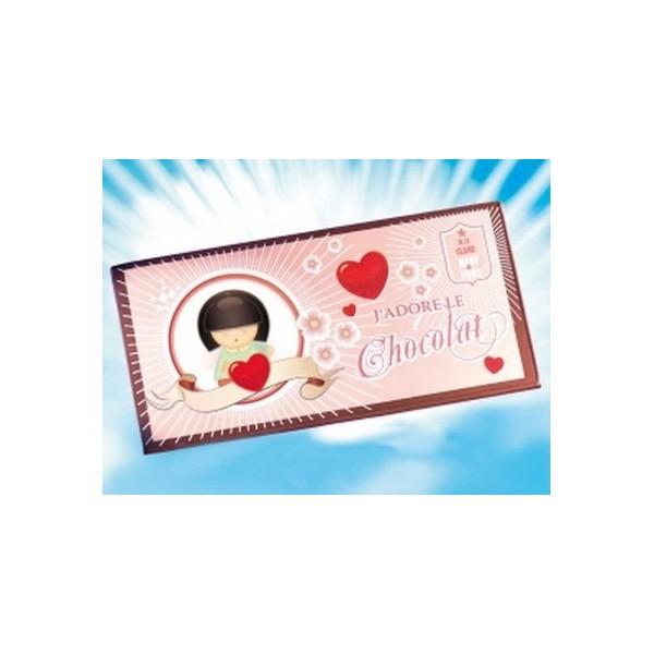 Impression carte de voeux j 39 adore le chocolat Impression carte de voeux