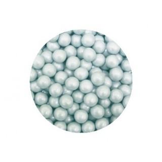Perle chocolatée 10 mm - Argent