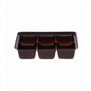 Cavité brune 6 morceaux pour chocolat