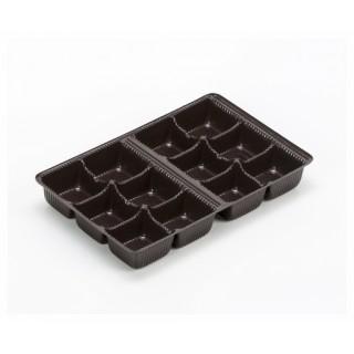 Cavité brune 12 morceaux pour chocolat