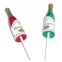 Pick Bouteille de champagne Verte et rouge