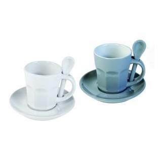 Tasses à expresso Intermezzo - Blanche et grise