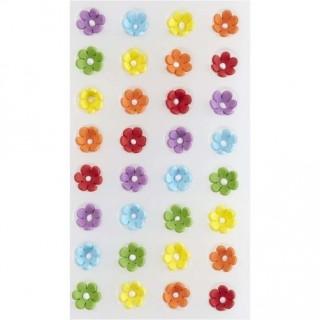 Minis fleurs multicolores en glace royale