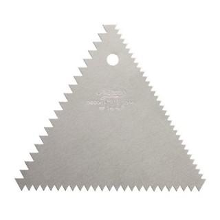 Peigne à décorer en métal Triangle